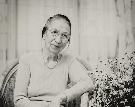 Mrs Le Hong Sam at her home in Ha Noi, Nov, 2012.