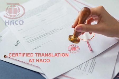 Certified Translation At Haco