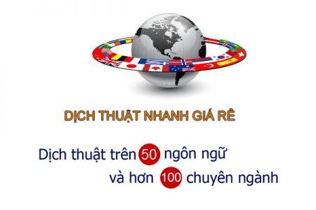dịch thuật nhanh giá rẻ