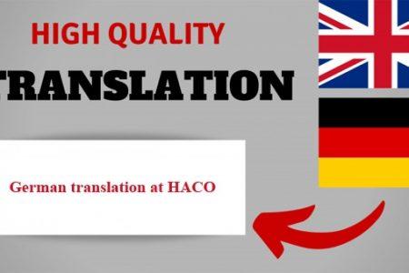 German Translation At Haco