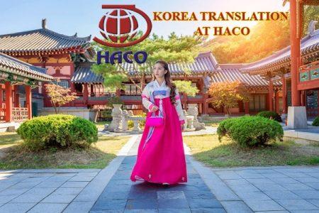 Korea Translation At Haco