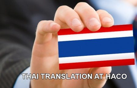 Thai Translation At Haco