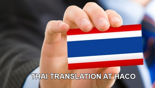 Thai Translation At Haco