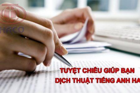 Tuyet Chieu Giup Ban Dich Thuat Tieng Anh Hay